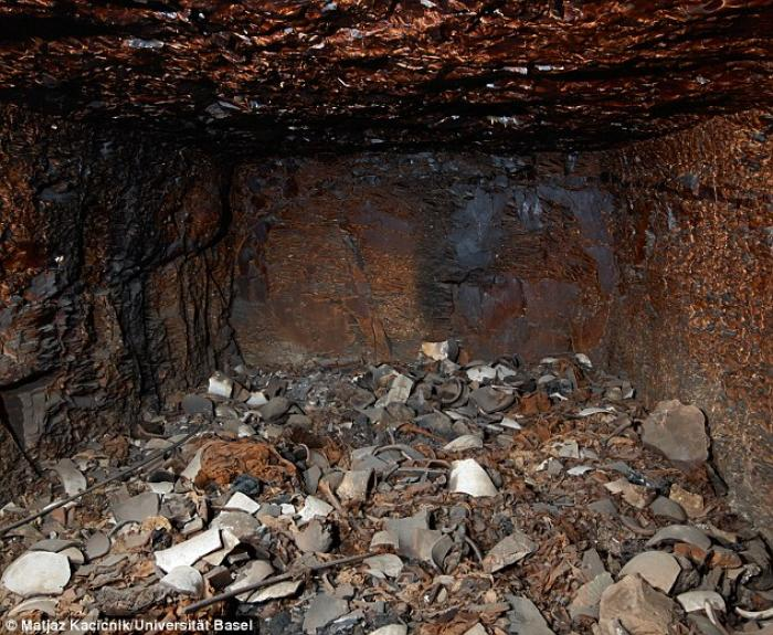 Tomb KV 40 containing the newly discovered remains was found about 20ft (six metres) underground wit