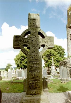 The ruins of Monasterboice are the remains of an early, fifth century Christian settlement.