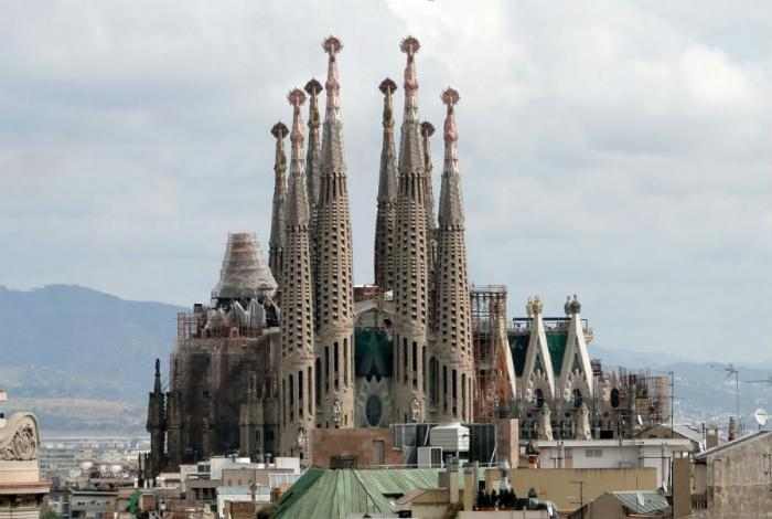 The Basilica and Expiatory Church of the Holy Family has been under construction since 1882.