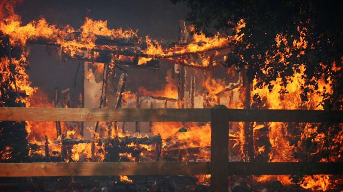 The once idyllic San Diego countryside has been transformed into an inferno.