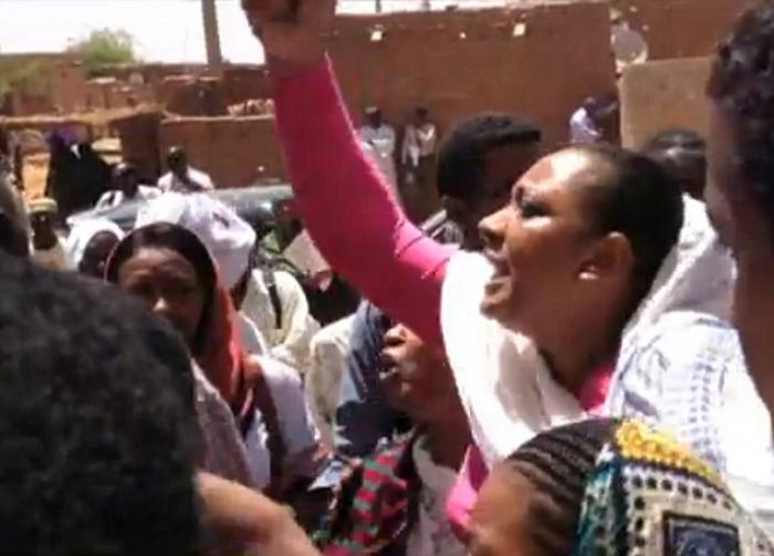 More than 50 protesters gathered outside the Sudanese court last week where Mariam Yahya Ibrahim Ish