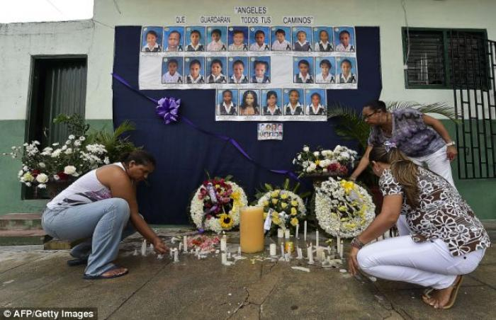 The president of Colombia has declared a national day of mourning after 32 children were killed in a