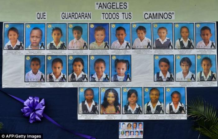 Most of the victims, aged three to 12, were burned alive after the driver allegedly tried to refuel