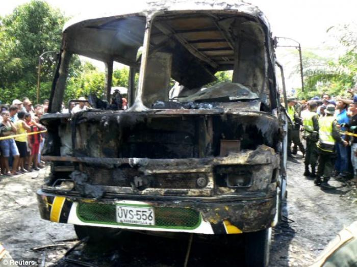 The children were travelling back from Sunday school when the blaze happened. The bus driver had no