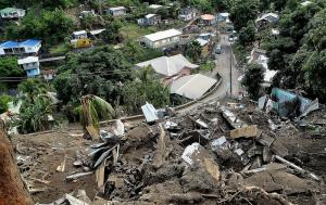 The storm on Christmas Eve, 2013, slammed the Caribbean nation of Saint Vincent and the Grenadines.