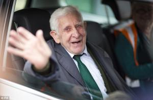D-Day veteran Bernard Jordan, 89, returned to Britain on a ferry after sneaking onto a coach to Norm