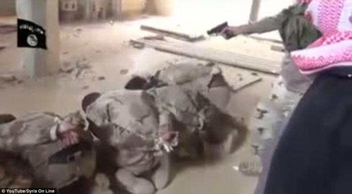 ISIS fighters executed these Iraqi soldiers and filmed their evil for the world to watch.