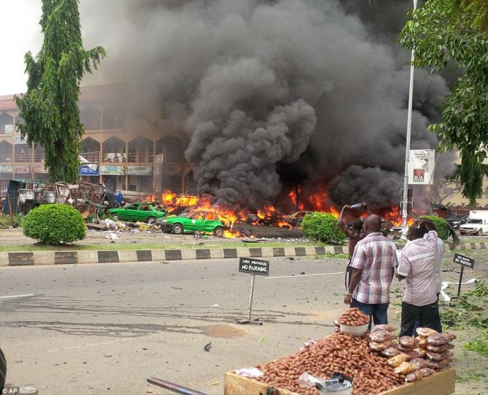 Islamic terrorists bombed a gathering in Nigeria where people were watching the World Cup game.