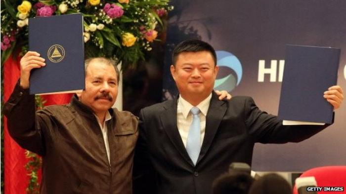 President Daniel Ortega (left) hopes the project will lift hundreds of thousands of Nicaraguans out