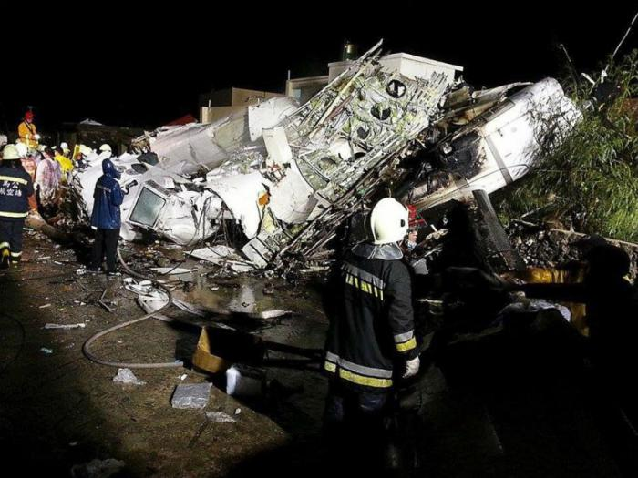 A typhoon in Taiwan caused a plane to crash, killing 47 and injuring 11.
