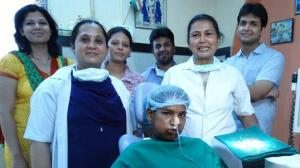 It was all smiles from the medical team after the operation.
