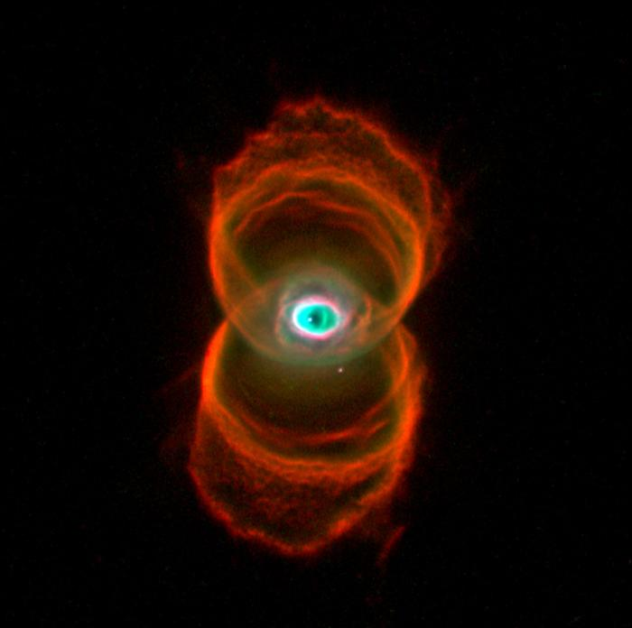 The Engraved Hourglass Nebula is 8,000 light-years from Earth, meaning this is how the Nebula was 8,