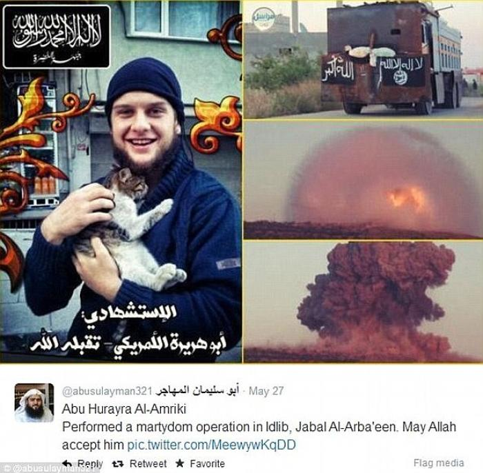 American terrorist Moner Mohammed Abu-Salha blew himself up in May as part of a suicide campaign in
