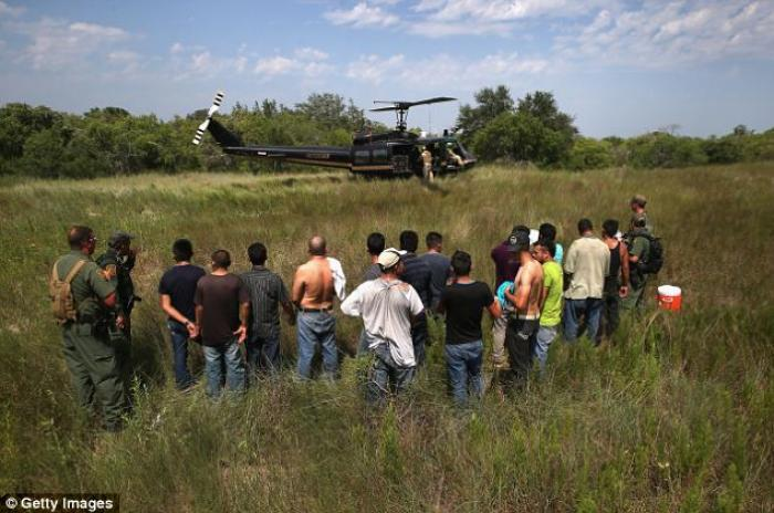 U.S. Border Patrol agents captured more than 4,000 illegal immigrants like these men in the month of