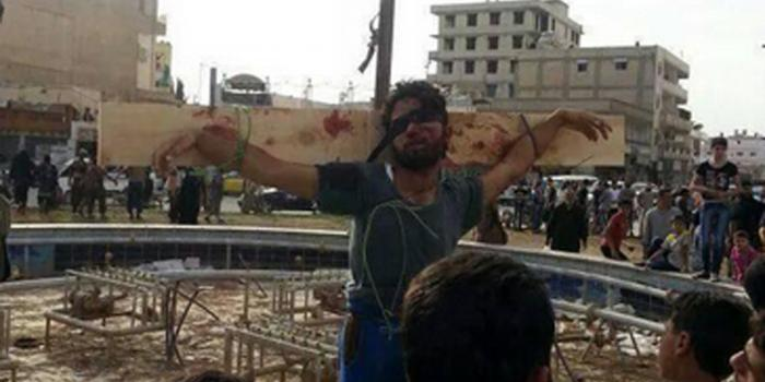 ISIS recently crucified a man, allegedly one of their own, for disloyalty.
