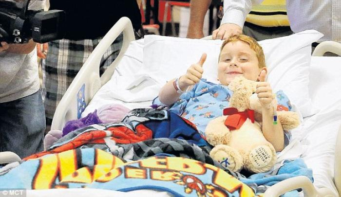 Nine-year-old James Barney, Jr is recovering after fighting off a 400lb alligator with his bare hand