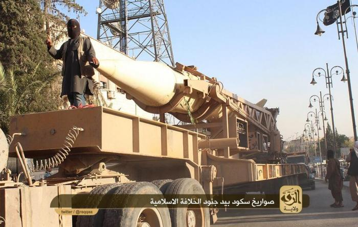 A SCUD missile. Most experts believe the missile is inoperable and that the Islamic State cannot fir