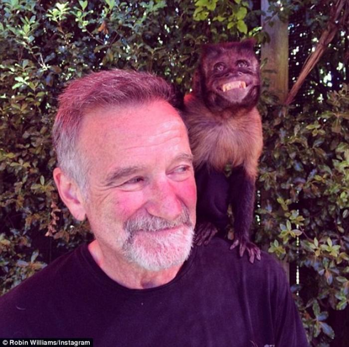 On July 21, in what could be the last picture of the comedy giant, Robin Williams posted this photog