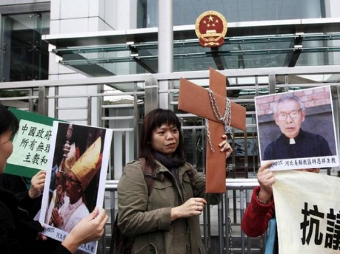 Chinese authorities have destroyed or ordered the removal of crosses at 231 churches this year in Zh