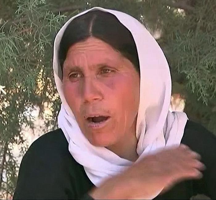 The Yazidi woman fleeing for her life described seeing horrific things as ISIS invaded her village.