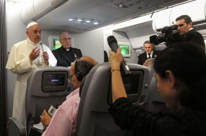 As to his availability to travel to Kurdistan to be with the fleeing refugees, Pope Francis said he