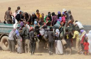 Thousands of Yazidis have fled their ancestral homelands in Iraq ahead of Islamic State terrorists w