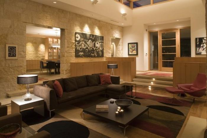 An environment with full, bright lighting is good for entertaining and workaday activities.