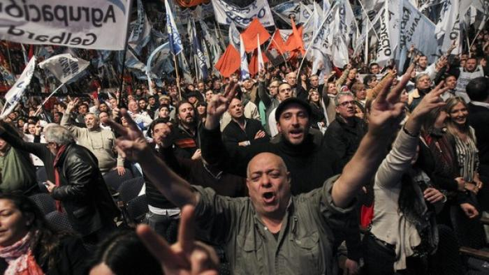 Hundreds of supporters of Cristina Fernandez de Kirchner hold a rally at