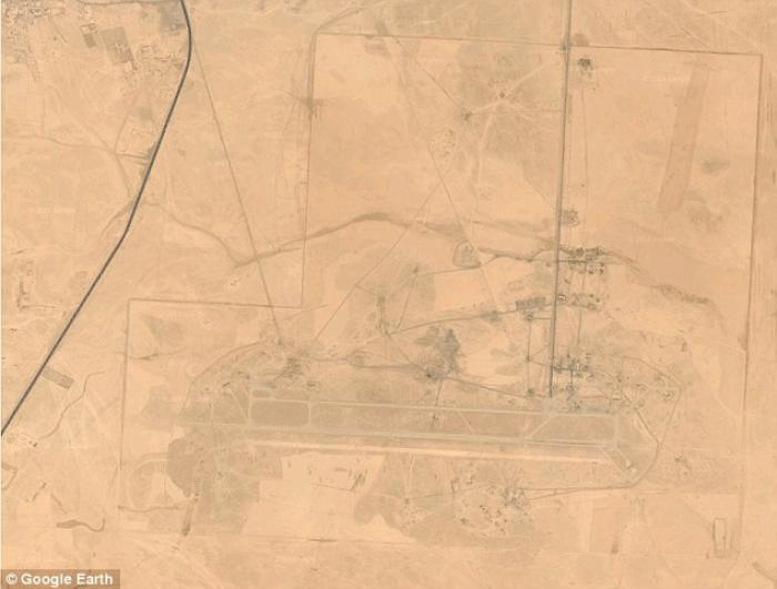 Tabqa airbase in Syria, now under Islamic State control.