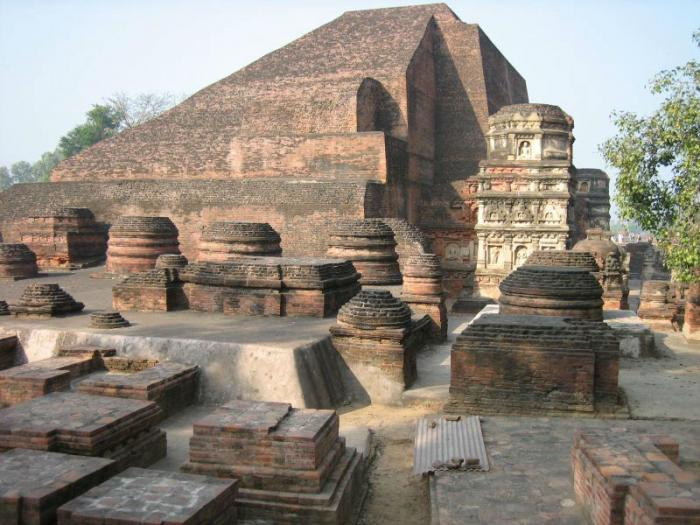 Ruins of Nalanda University which was destroyed by Turks in the 12th century.
