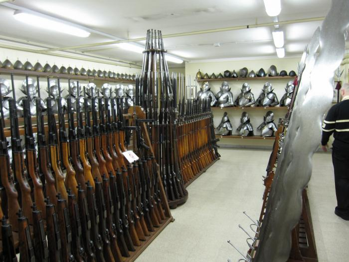 This is an image of the semi-secret arsenal of weapons available to the Swiss Papal Guard.