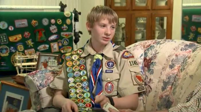 14-year-old Josh McCoy, of Alexandria Virginia, has earned all 135 merit badges offered by the Boy S