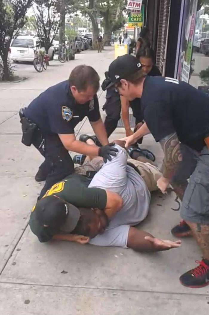 Eric Garner in his last minutes after being placed into a chokehold by an NYPD officer.