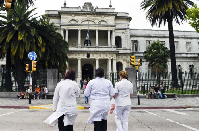 The Uruguayan hospital where the six Guantanamo Bay detainees were taken after being released.