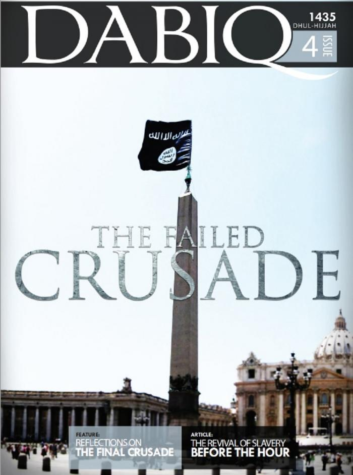 The cover of Dabiq makes it very plain that the Islamic State wants to see the Vatican destroyed.