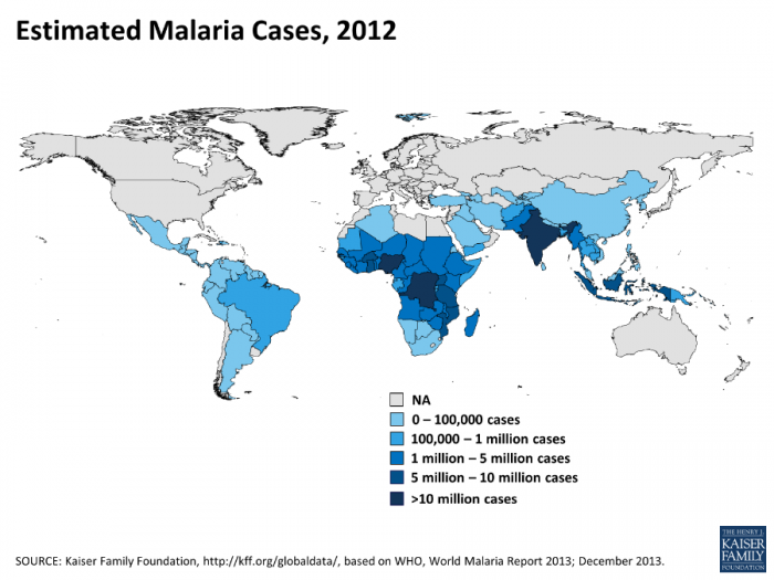 The number of cases of malaria, a disease that is often fatal to children, has dropped remarkably in