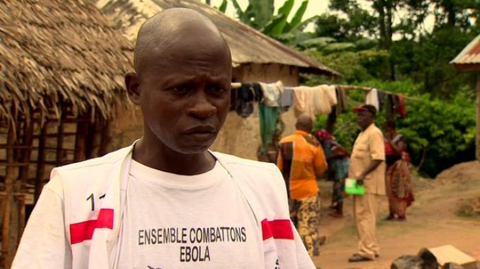 Forty-one-year-old Saa Sabas of Southeast Guinea caught Ebola from a relative but recovered. He now