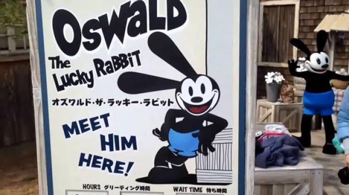 Footage of Walt Disney...