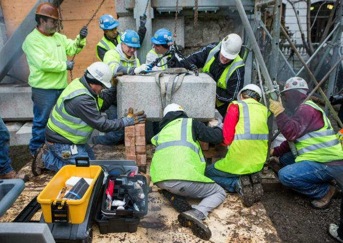 The time capsule was extracted from the cornerstone of the Massachusetts State House in December 201