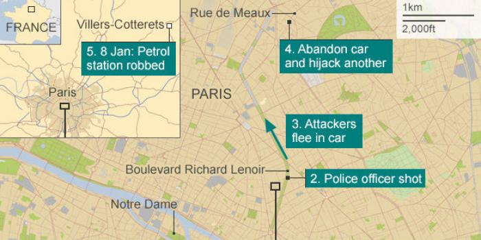 French anti-terrorism officers have converged around a forest about 45 miles north of Paris, where t