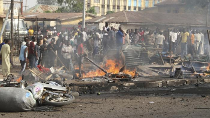 Nigerian Christian church burned down