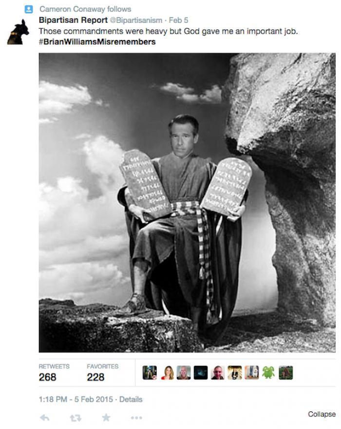 Brian Williams on social media