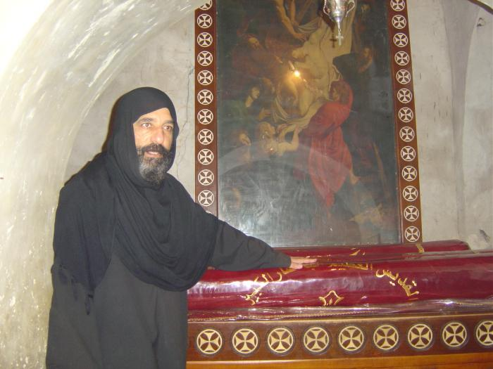 The crypts of St. John the Baptist and the prophet Elisha are believed to be at the monastery and a