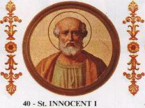 St. Innocent I: Saint of the Day for Thursday, July 28, 2016