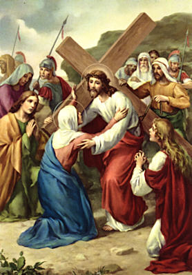 Image of Fourth Station: Jesus meets his mother