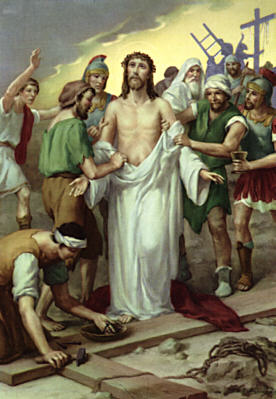Tenth Station: Jesus clothes are taken away