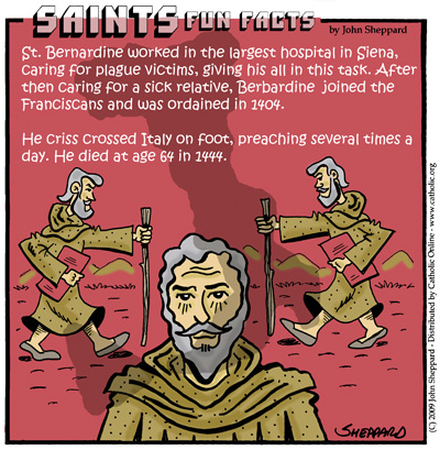 Saints Fun Facts for St. Bernardine of Siena