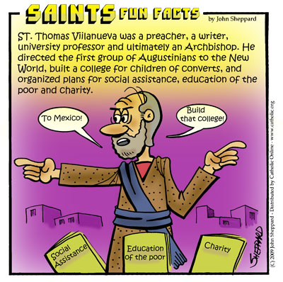 Saints Fun Facts for St. Thomas of Villanueva
