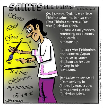 Saints Fun Facts for St. Lorenzo Ruiz