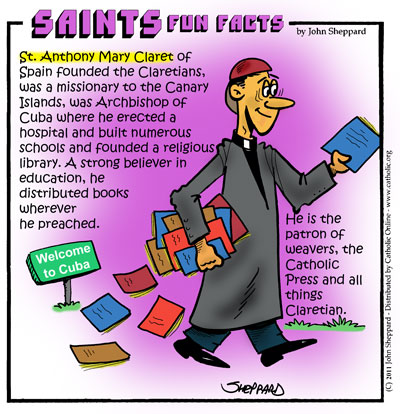 St. Anthony Mary Claret Fun Fact Image